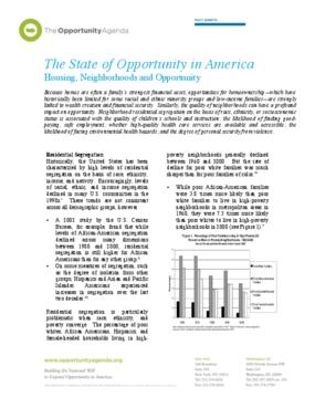 Housing, Neighborhoods, and Opportunity