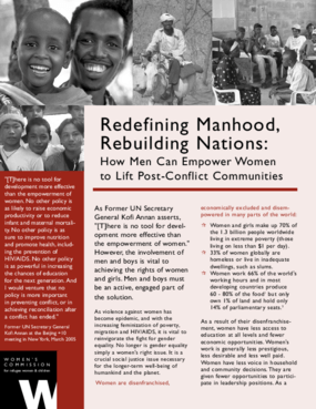 Redefining Manhood, Rebuilding Nations: How Men Can Empower Women to Lift Post-Conflict Communities