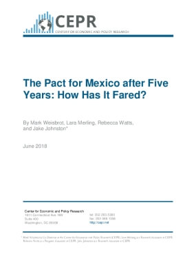 The Pact for Mexico after Five Years: How Has It Fared?