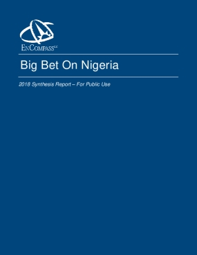 Big Bet On Nigeria: 2018 Synthesis Report