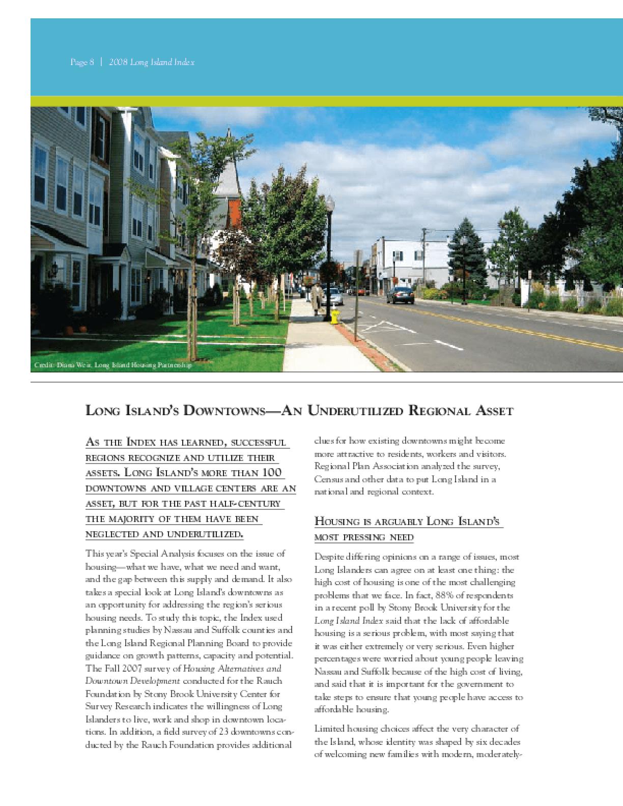Long Island Index 2008
