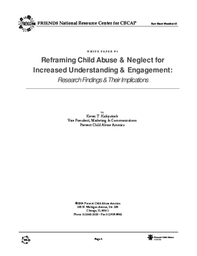 Reframing Child Abuse and Neglect for Increased Understanding and Engagement