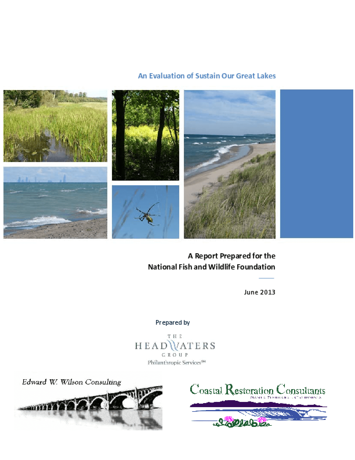 An Evaluation of Sustain Our Great Lakes: A Report Prepared for the National Fish and Wildlife Foundation