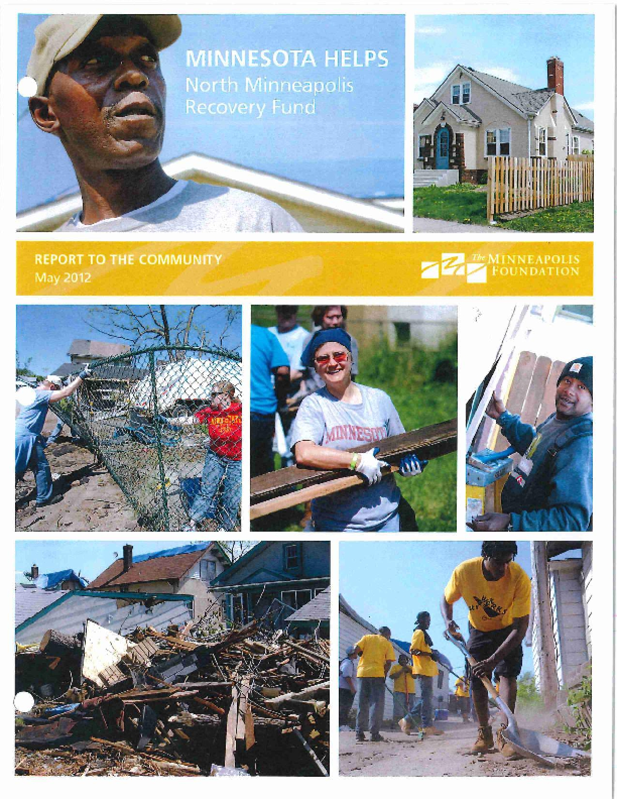 Minnesota Helps: North Minneapolis Recovery Fund - Report to the Community