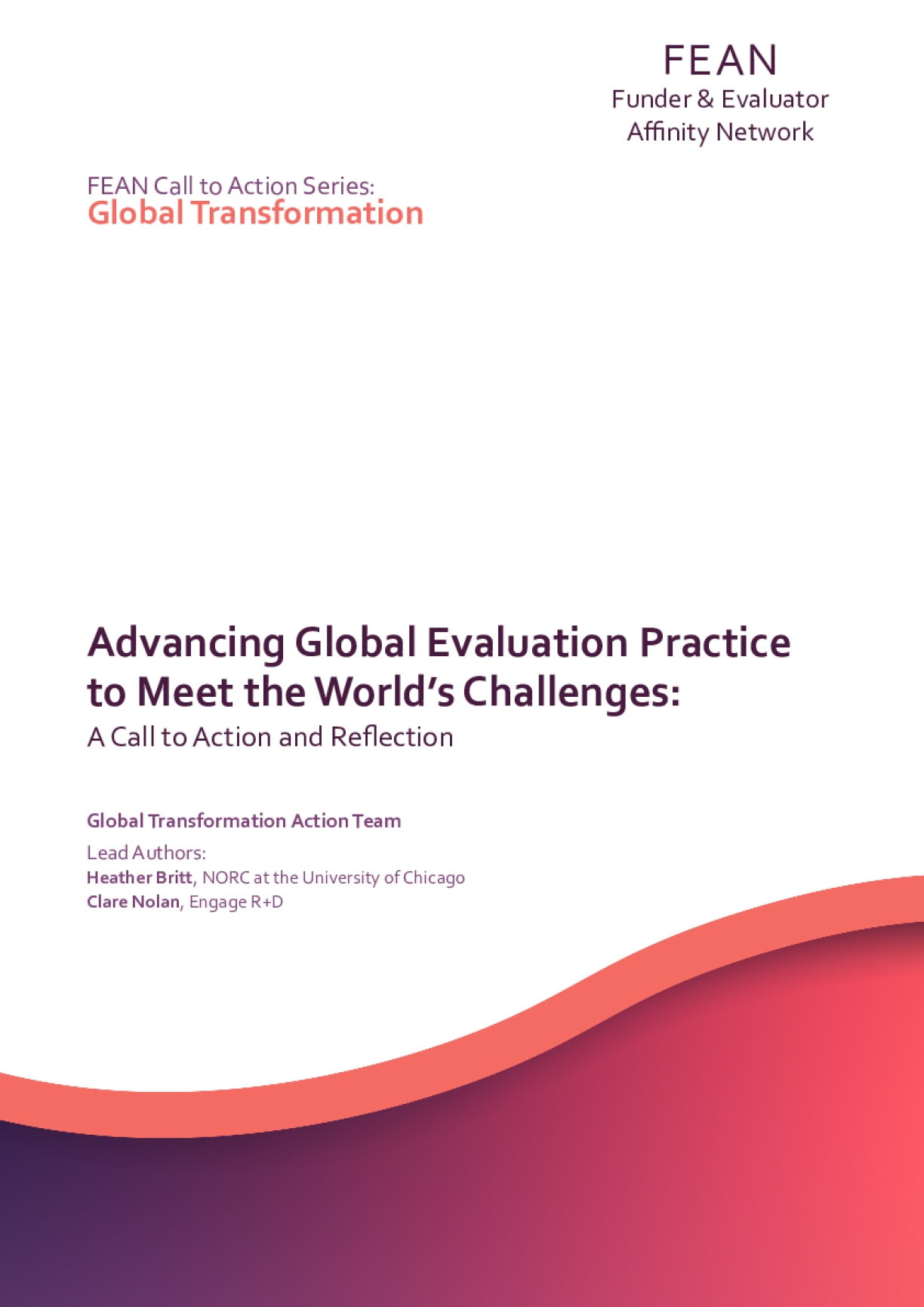 Advancing Evaluation Practice to Meet Global Challenges: A call to action and reflection